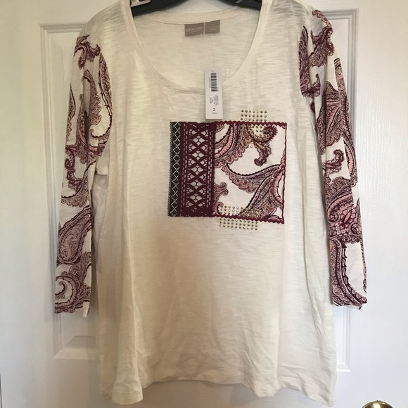 Chico S Tops New Chicos Blouses Tag Poshmark